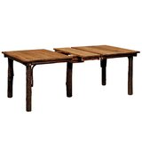 Quiles Extended Solid Wood Dining Table by Loon Peak®
