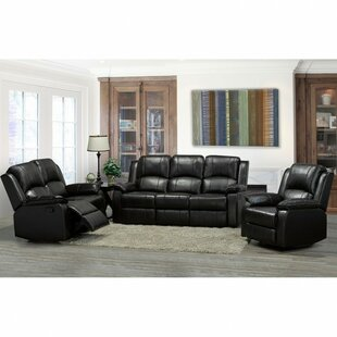 Alexandra Reclining 3 Piece Leather Livin..
