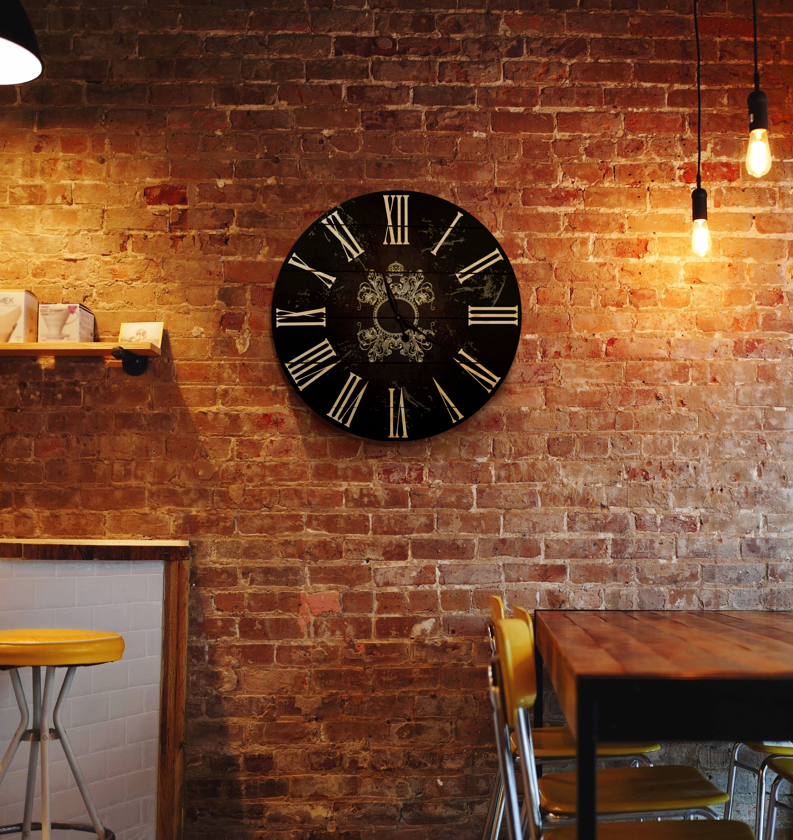 Gizaun Art Oversized French Country 30 Wall Clock Wayfair