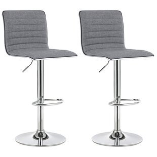 Laserre Muma Breakfast Kitchen Height Adjustable Swivel Bar Stool (Set Of 2) By 17 Stories