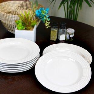 Ned 8 Piece Dinner Plate Set (Set of 8)