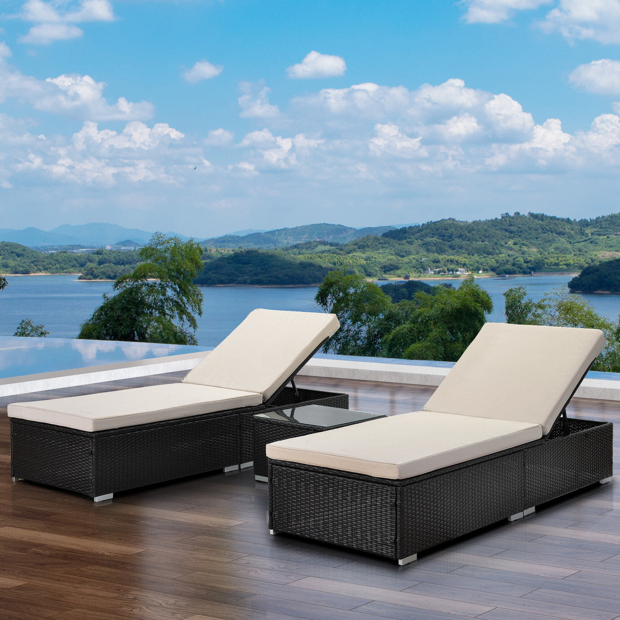 Table Included Latitude Run Wicker Chaise Lounges You Ll Love In 2021 Wayfair