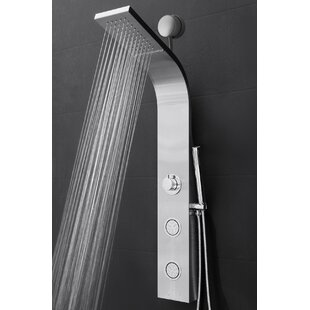 AKDY Easy Connect Shower Panel with Rainfall Waterfall Shower Head and Handshower
