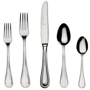 Boheme 5 Piece 18/10 Stainless Steel Flatware Set, Service for 1