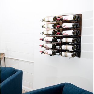 9 Bottle Metal Wall Mounted Wine Rack Herry Up