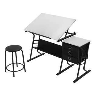 Offex Eclipse 2 Piece Drafting Table Set