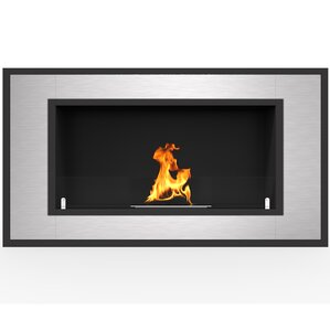 Maybelle Ventless Built in Recessed Wall Mounted Glass Bio-Ethanol Fireplace by Orren Ellis