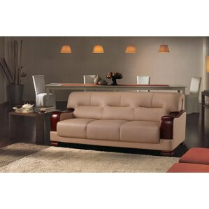 Tourmaline Leather 3 Piece Living Room Set