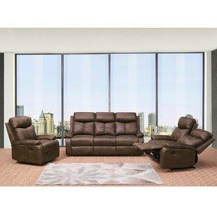 Kerrimore 3 Piece Reclining Living Room Set by Red Barrel Studio