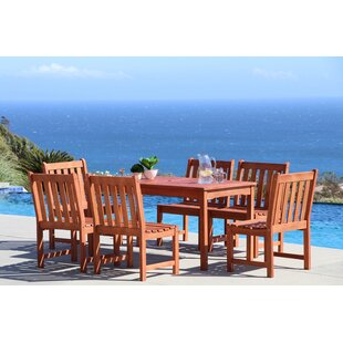 Beachcrest Home Monterry Classic 7 Piece Wood Dining Set