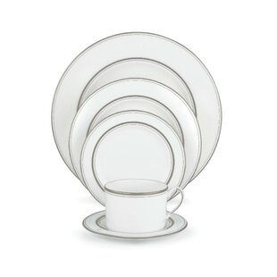 Library Lane Platinum Bone China 5 Piece Place Setting, Service for 1
