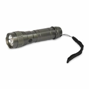 Messinger Gunmetal Battery Powered LED Outdoor Flashlight By Symple Stuff