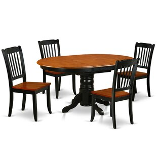 Kyser 5 Piece Extendable Solid Wood Dining Set