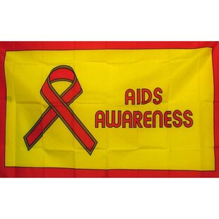 Aids Awareness Novelty Traditional Flag by NeoPlex