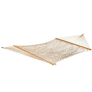 Bay Isle Home Roe Double Cotton Rope Hamm..