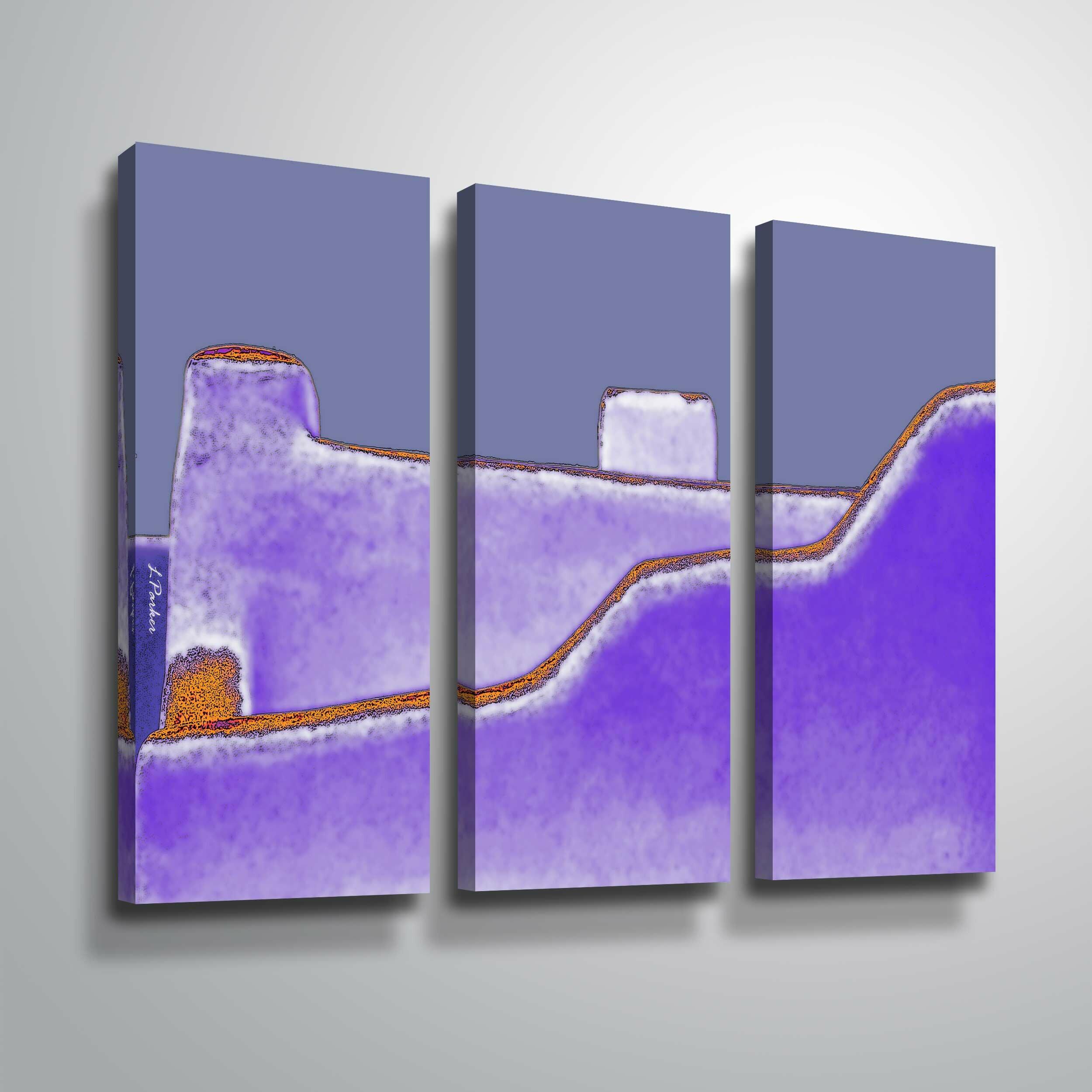 Canvas Santa Fe >> Santa Fe Adobe Graphic Art Print Multi Piece Image On Canvas