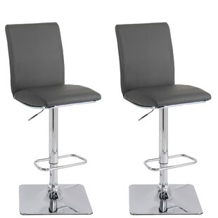 Cribb Adjustable Height Swivel Bar Stool (Set of 2)