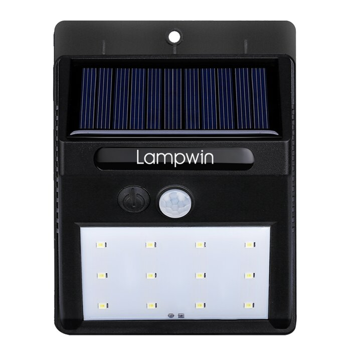 Waterproof Bright 1 Watt Led Solar Outdoor Security Flood Light With Motion Sensor
