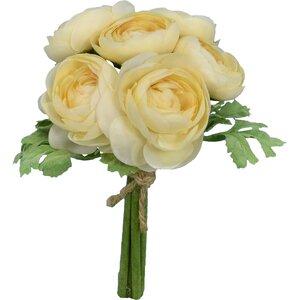 Faux Cream Ranunculus Bouquet Floral Arrangement