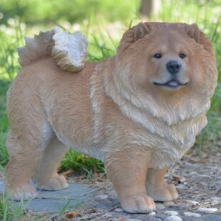 Standing Chow Chow Dog Statue by Hi-Line Gift Ltd.