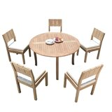 Galilee 6 Piece Teak Dining Set