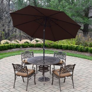 Sunray Mississippi 5 Piece Dining Set with Cushions by Oakland Living