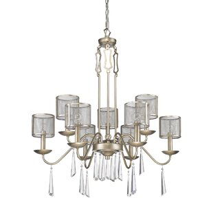 House of Hampton Keene 9-Light Shaded Chandelier