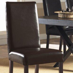Padmas Plantation Monaco Genuine Leather Upholstered Dining Chair