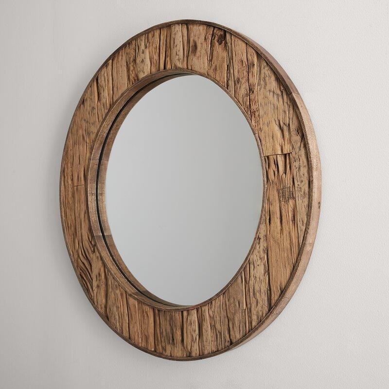 Loon Peak Kristie Rustic Beveled Distressed Accent Mirror Wayfair