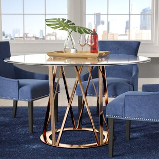 Read Reviews Mayall Round Metal Dining Table By Orren Ellis
