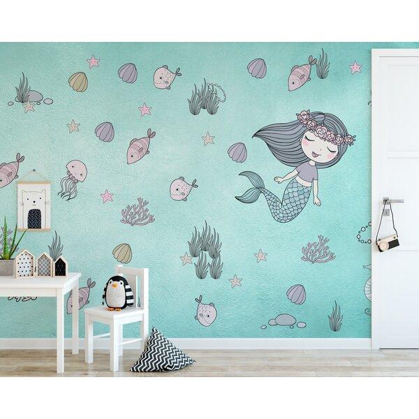 Gk Wall Design Mermaid Ariel Starfish Kids Textile Wallpaper Wayfair