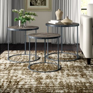 Read Reviews Pattison 3 Piece Nesting Tables By Greyleigh