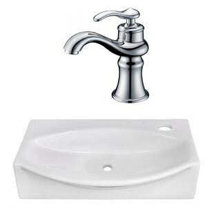 Compare Ceramic 12 Wall Mount Bathroom Sink with Faucet By American Imaginations