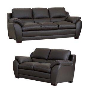 Bridgeyate 2 Piece Leather Living Room Set by Orren Ellis