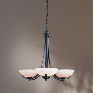 Aegis 3-Light Shaded Chandelier by Hubbardton Forge
