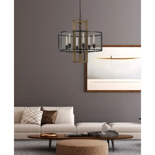 Eaton Wood 6-Light Drum Chandelier by Williston Forge
