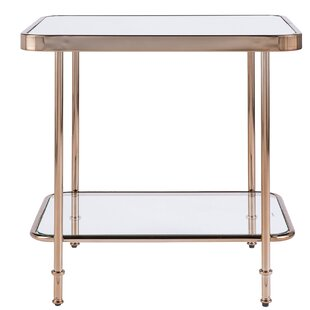 Affordable Kimberlin Mirrored End Table by Mercer41
