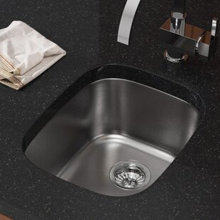 Review Stainless Steel 18 x 15 Undermount Bar Sink by MR Direct