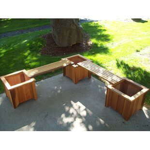 Wood Country Wood Planter Bench