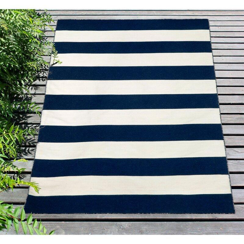 Beachcrest Home Ranier Striped Handmade