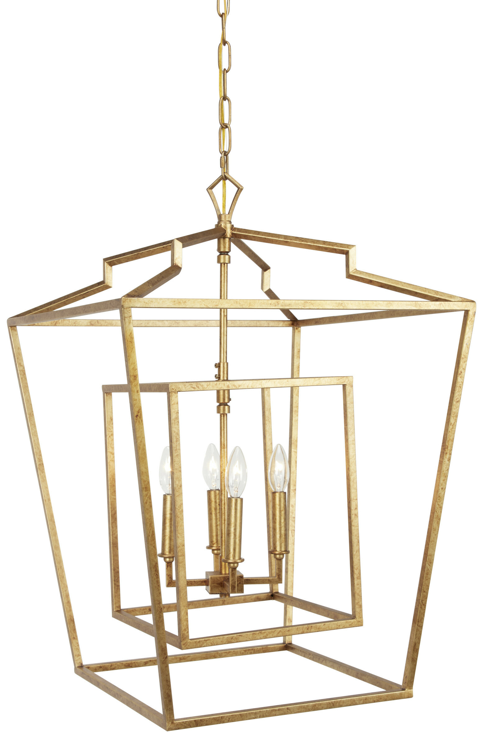 Wrought Studio Matherne 4 Light Lantern Geometric Chandelier Reviews Wayfair