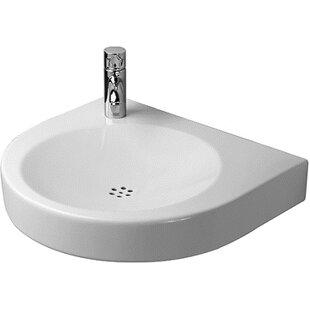 Online Reviews Architec Ceramic 23 Wall Mount Bathroom Sink By Duravit