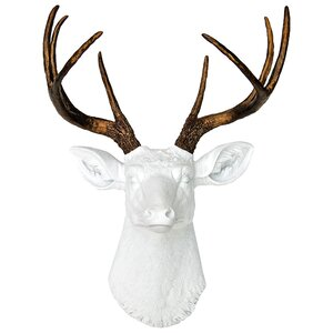 Deer Head Antlers Fake Taxidermy Wall Du00e9cor