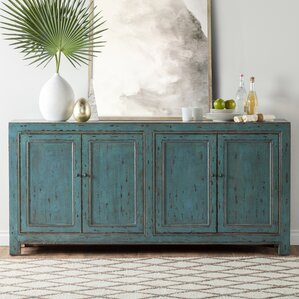 Mahoning Reclaimed Pine 4 Door Sideboard by August Grove
