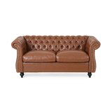 Chesterfield 61.75'' Rolled Arm Loveseat by Canora Grey