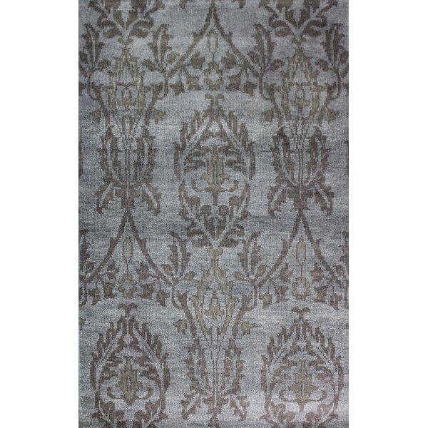 Bloomsbury Market Kristi Oriental Hand Knotted Wool Gray Area Rug Wayfair