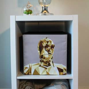 Best Reviews Star Wars Collapsable C3PO Fabric Cube or Bin By Everything Mary