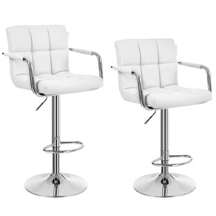 Bergin Height Adjustable Swivel Bar Stool (Set Of 2) By Metro Lane