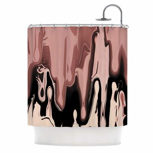 'Nude Drip' Single Shower Curtain