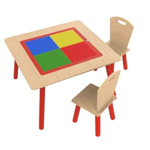 Kidsu0027 3 Piece Square Table And Chair Set